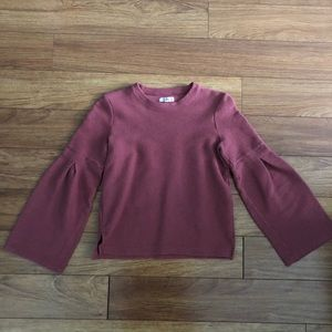 Madewell Flare Sleeve Ribbed Top